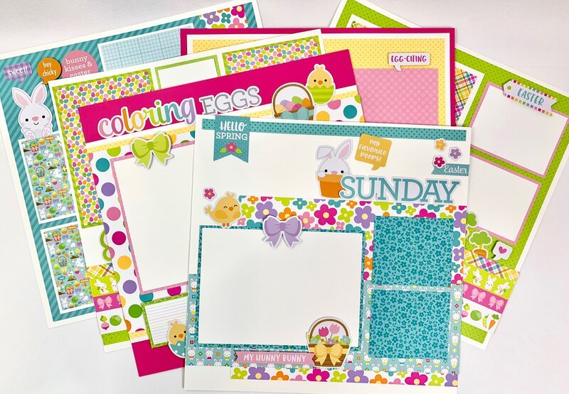 Easter Layout 12x12 Pages
