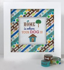 Doodlebug Washi Tape Frame, Dog, Home Decor