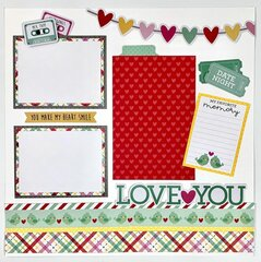 Love Notes Scraopbook Page Layout