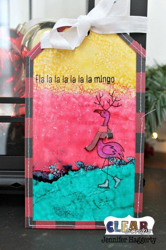 Christmas Acrylic Tag