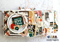 Hello Fall Acrylic Scallop Mini Album