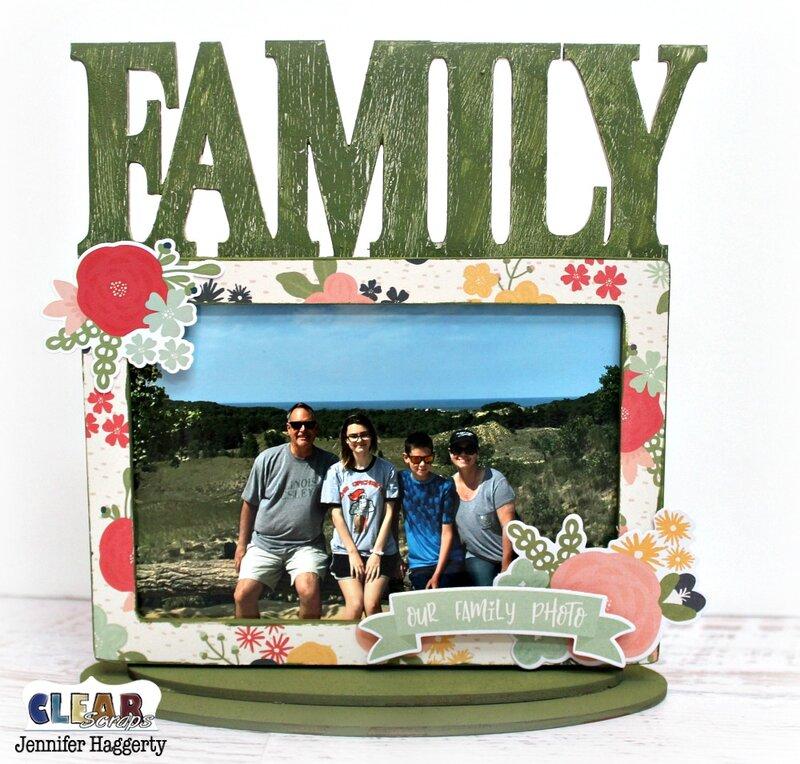 Family Desktop Wood Frame