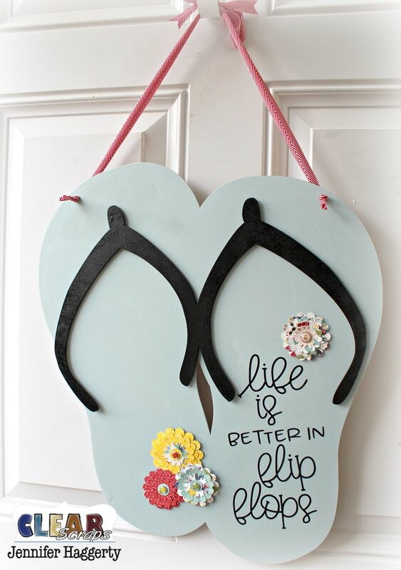 Flip Flop XL Wood Shape