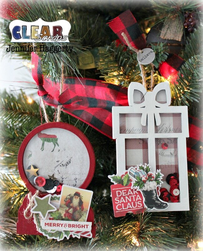 Christmas Mini Shaker Shape Ornaments