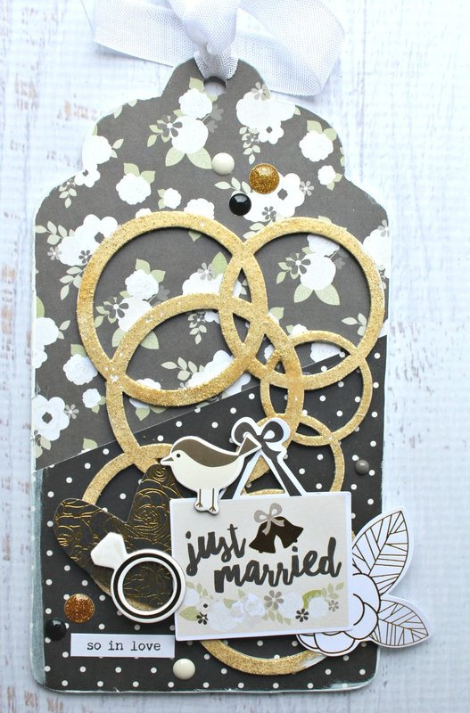 Rings Chipboard Embellishment Tag