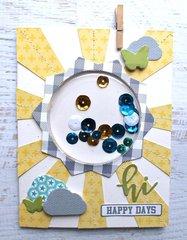 Hi Happy Days Shaker Card