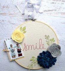 Smile Embroidery Hoop