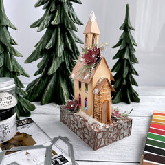 Christmas Church with the Tim Holtz Village Collection