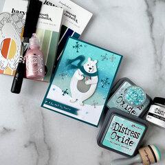 You Melt My Heart Tim Holtz Polar Bear Cozy Winter Card