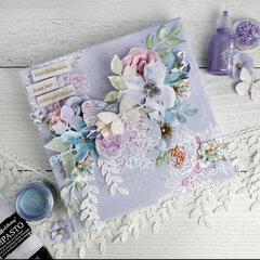Lavender Watercolor Floral Mixed Media Canvas