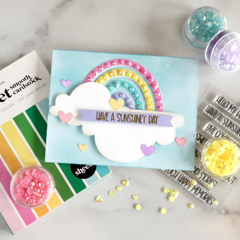 Have a Sunshiny Day (Rainbow Card)
