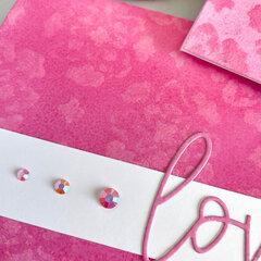 Love (Kitsch Flamingo Card)