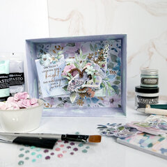 Never Give Up (Watercolor Floral Mixed Media Vignette)