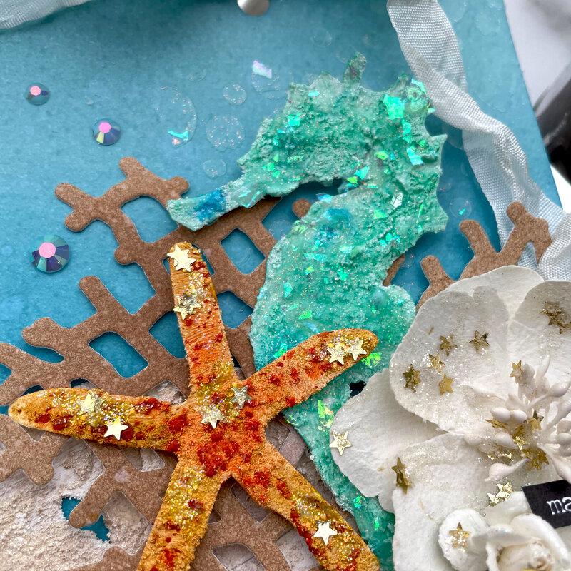 Make a Wish Ocean Inspired Mixed Media Tag