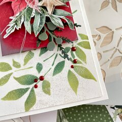 Frosted Poinsettia Slimeline Card