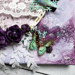 Purple Dream Mixed Media Canvas