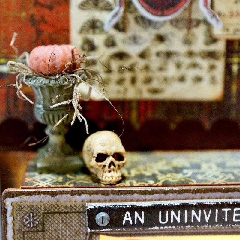 Uninvited Guest (Tim Holtz Halloween Vignette)