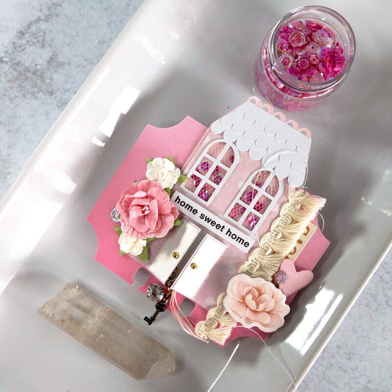 Memorydex Valentine's Advent: Home Sweet Home Shaker