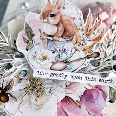 Live Gently: Forest Tea Party Mixed Media Panel