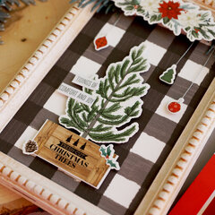 Farmhouse Style Cut Christmas Trees Panel