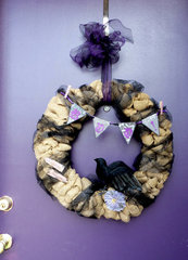 Nevermore! Halloween Burlap Wreath