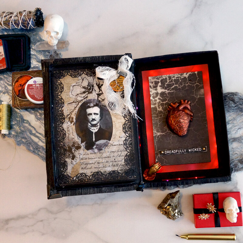 Tell Tale Heart Mixed Media Book Box