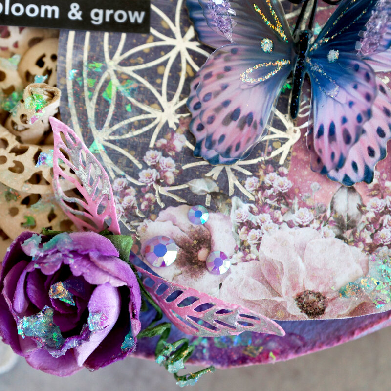 Bloom and Grow Mixed Media Panel