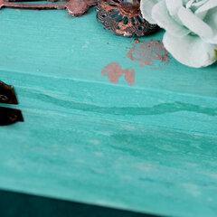 Salvaged Patina Mixed Media Raven Skull Box