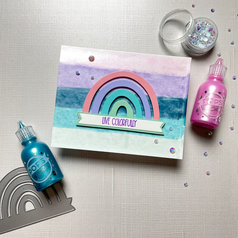 Live Colorfully (Rainbow Pops of Color Card)