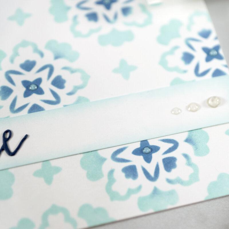 Stenciled Notecard Set