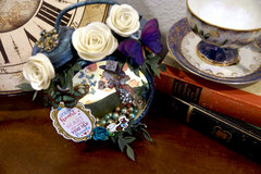 Mad Hatter's Heart: Altered Tim Holtz Assemblage Clock