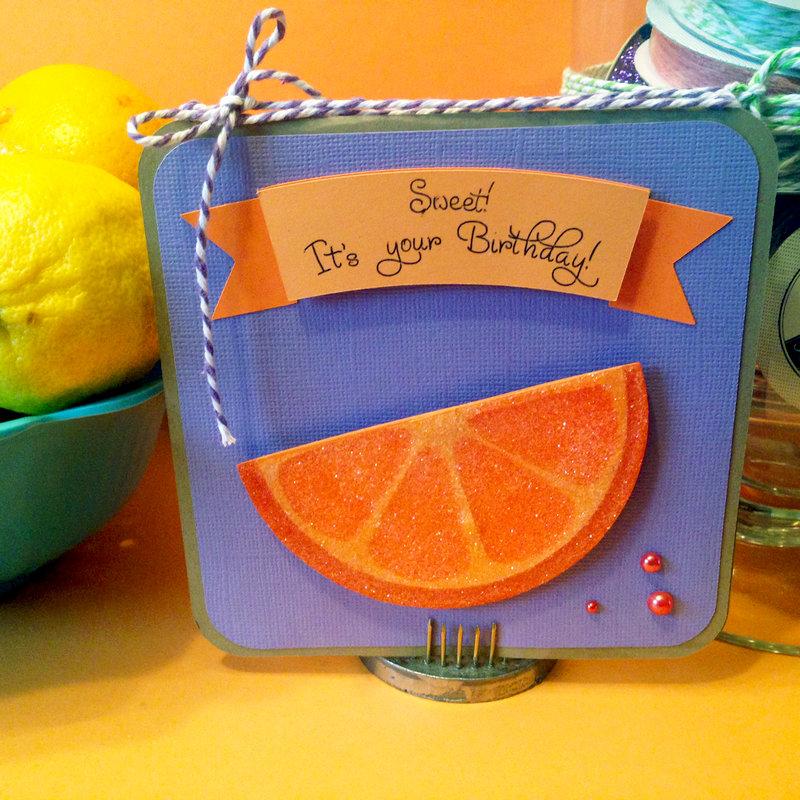 Sweet Orange Birthday Card