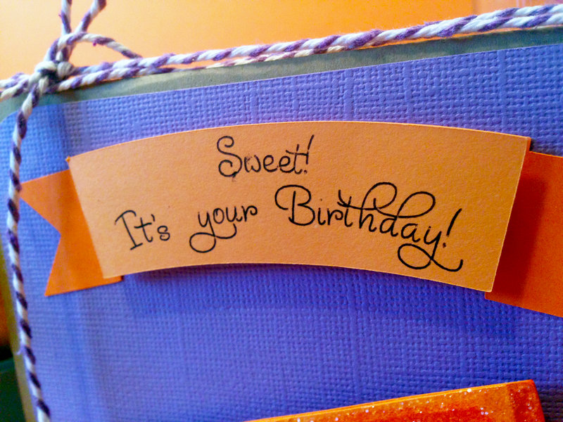 Sweet Orange Birthday Card