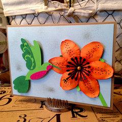Hummingbird & Lily Card