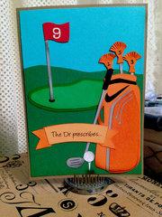 Golf Themed Retirement Card