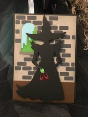 Wicked Witch Halloween Card