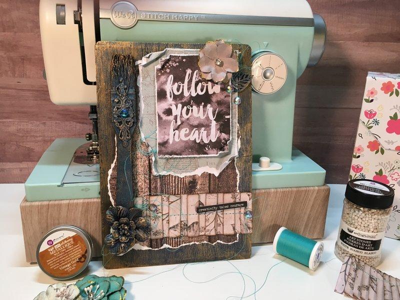 Follow Your Heart (Altered Art Panel)