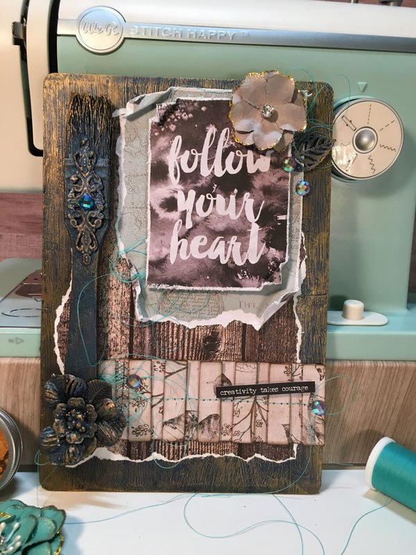 Follow Your Heart (Altered Art Panel)