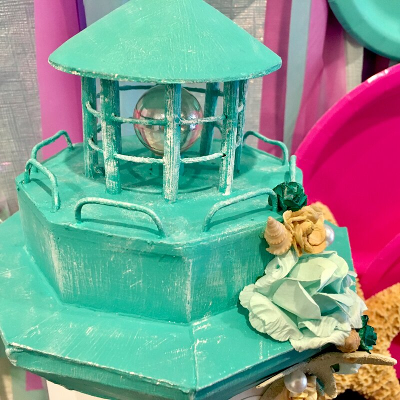 On the Coast: An Altered Mixed Media Lighthouse