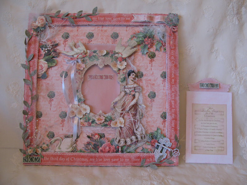 The Twelve Days of Christmas layout