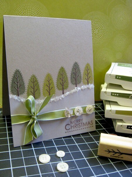 Simple Trendy Trees Christmas Card