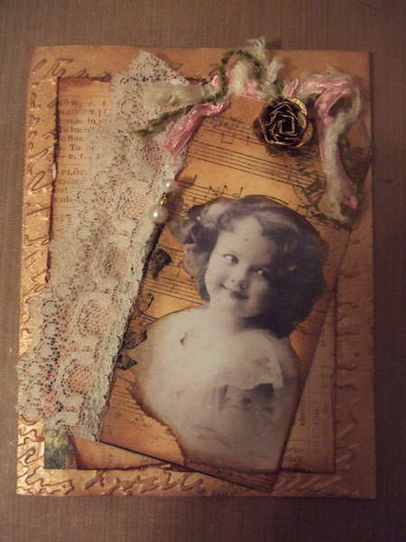 Vintage Card with TAG Accent