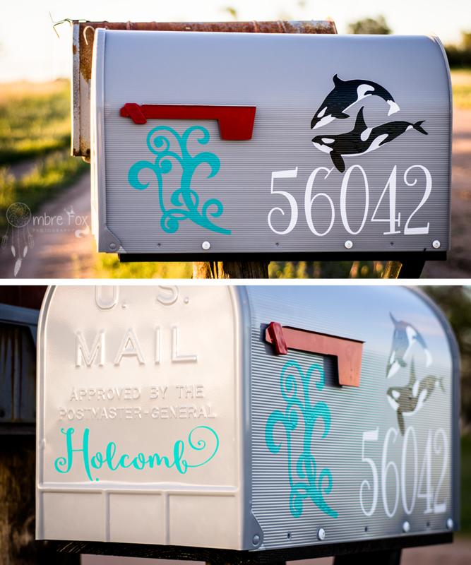 Mailbox Makover with Vinyl