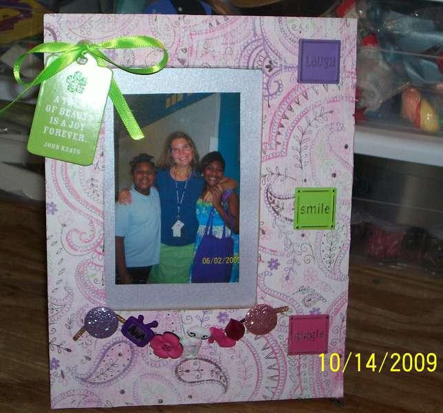 Girly photo frame