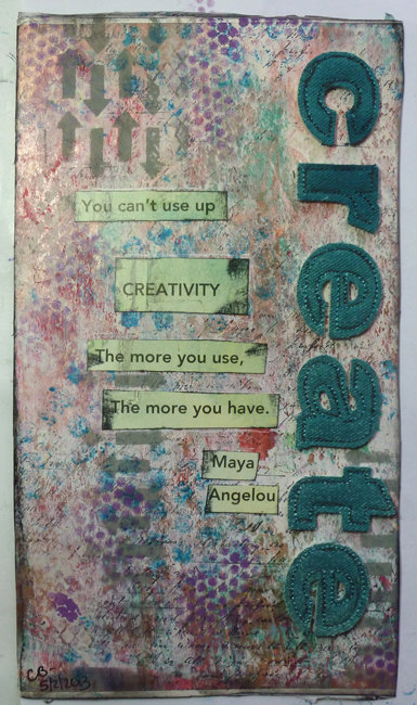 Create: an Art Journal page