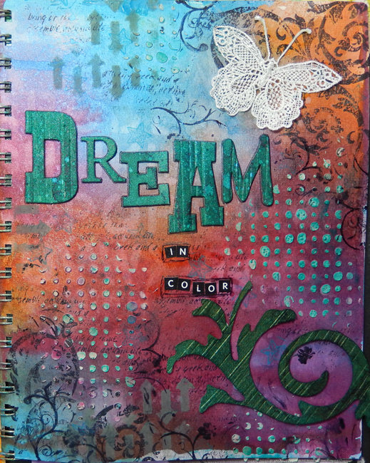 Dream in Color  art Journal page