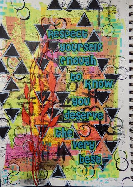 Respect…an Art Journal Page