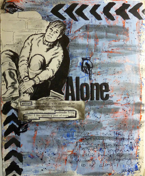 Alone   Art Journal Page