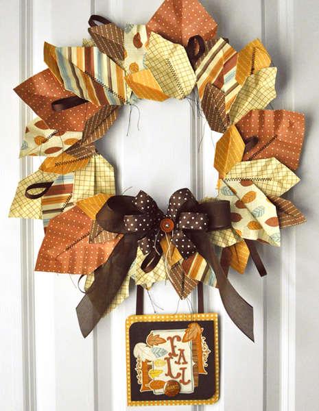 Origami Leaf Wreath & Card *American Crafts*