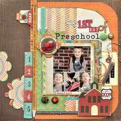 My 1st Day of Preschool *Crate Paper + SRM Stickers*